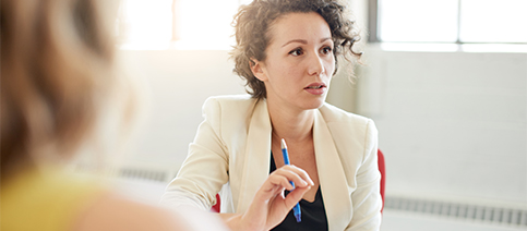 Corporate Careers Benefits Woman In Meeting