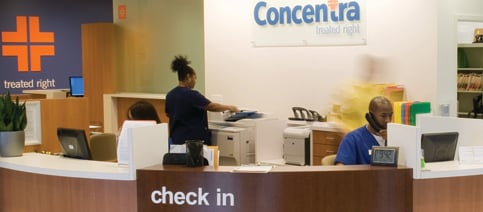 Concentra Check In Counter