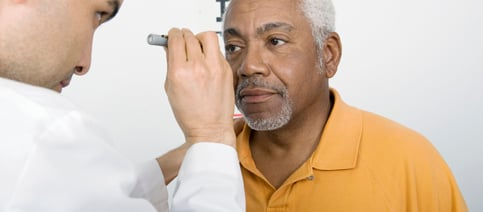 FAA Older man Eye Exam