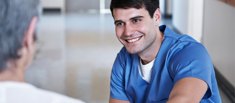 Nursing Model Male Nurse Smiling