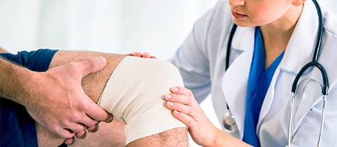 Patient Experience Knee Wrap Exam