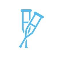 Physical therapy crutches icon