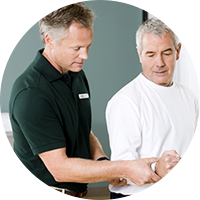 Therapist Practice Management Reports Man Rehab Elbow