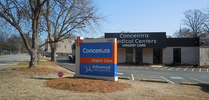 Concentra Airport North Hapeville urgent care center in Hapeville, Georgia.