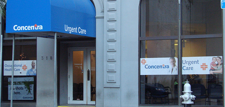 Concentra Downtown New Orleans urgent care center in New Orleans, Louisiana.