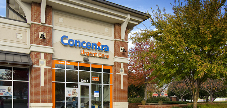 Concentra Northlake urgent care center in Charlotte, North Carolina.