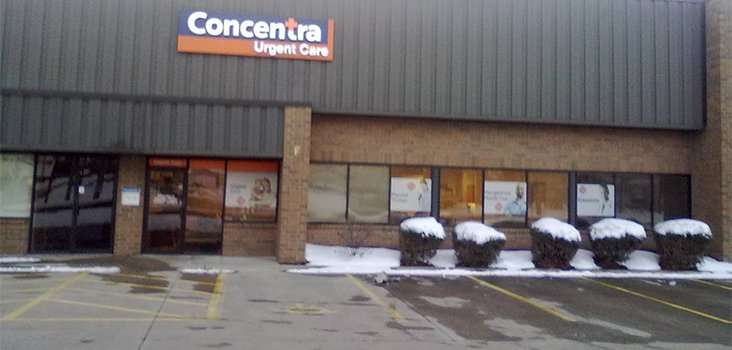 Concentra Downtown Akron urgent care center in Akron, Ohio.