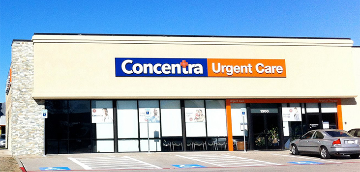 Concentra Plano urgent care center in Plano, Texas.