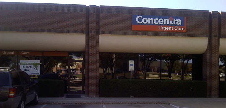 Concentra Ft. Worth Fossil Creek urgent care center in Fort Worth, Texas.