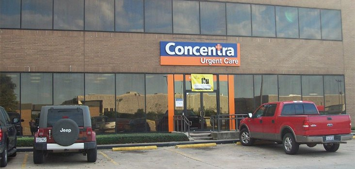 Concentra Houston McCarty urgent care center in Houston, Texas.