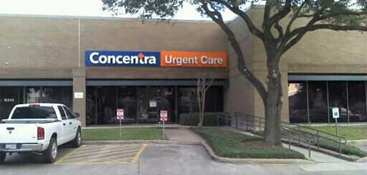 Concentra Houston Kirby urgent care center in Houston, Texas.