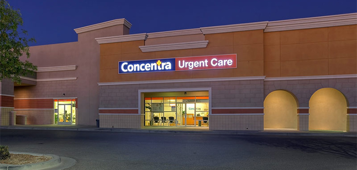 Concentra El Paso East urgent care center in El Paso, Texas.