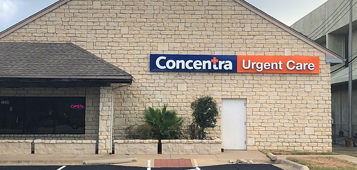 Concentra Anderson Lane urgent care center in Austin, Texas.