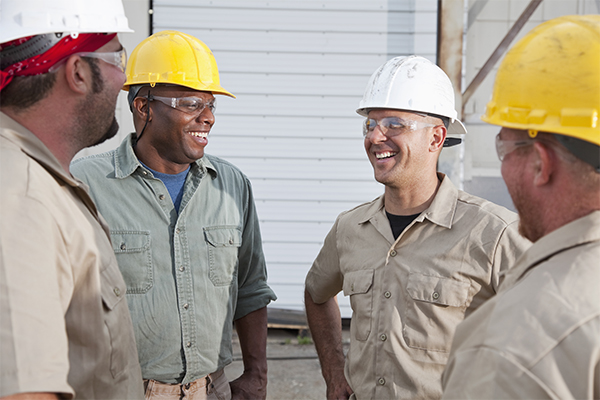 Benefits For Employees Team in Hard Hats