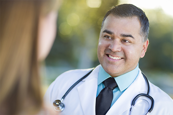 Focus On Patients Doctor Smiling