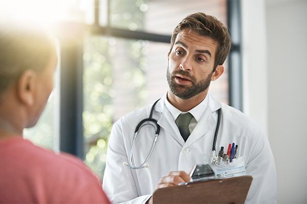 Urgent Care Quick Links Doctor With Clipboard