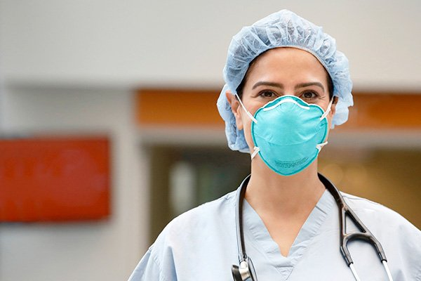Man working on the floor eligible for a respirator physical