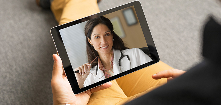 Telemed appointment happening through Ipad.