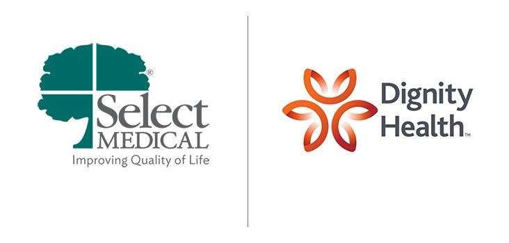 Select Medical and Dignity Health logos